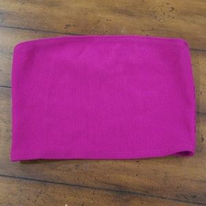 Ribbed American Apparel Hot Pink Tube Top